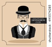 english gentleman. icon. vector ... | Shutterstock .eps vector #495574285