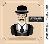 english gentleman. icon. vector ... | Shutterstock .eps vector #495574285