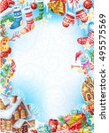 christmas frame | Shutterstock .eps vector #495575569