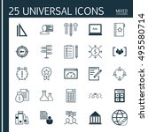 set of 25 universal icons on... | Shutterstock .eps vector #495580714