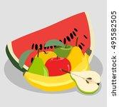 abstract vector icon... | Shutterstock .eps vector #495582505