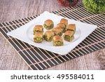 arabic desserts baklava | Shutterstock . vector #495584011