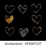 Gold  Silver Vector Heart....