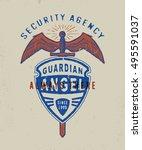 security agency guarding angel.... | Shutterstock .eps vector #495591037
