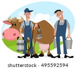 vector illustration of farmers... | Shutterstock .eps vector #495592594