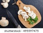Fresh Champignon Mushroom And...