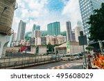 september 24  2016    city in...   Shutterstock . vector #495608029