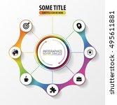 infographic report concept.... | Shutterstock .eps vector #495611881