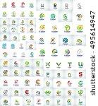 mega collection of letter logo  ...   Shutterstock .eps vector #495614947