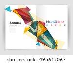 business triangle design modern ... | Shutterstock .eps vector #495615067