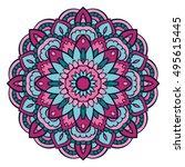 oriental mandala. vector... | Shutterstock .eps vector #495615445