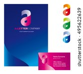 template a brand name companies.... | Shutterstock .eps vector #495622639
