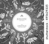 botanical frame | Shutterstock .eps vector #495629335