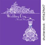 weddiing invitation | Shutterstock .eps vector #495629647