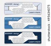 web banner design. set of... | Shutterstock .eps vector #495634075