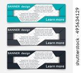 web banner design. set of... | Shutterstock .eps vector #495634129