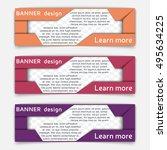 web banner design. set of... | Shutterstock .eps vector #495634225