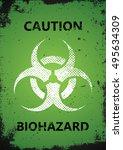 biohazard logo design.... | Shutterstock . vector #495634309