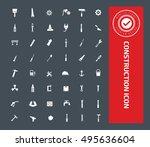 construction icon set vector | Shutterstock .eps vector #495636604