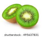 Isolated Kiwi. One Kiwi Fruit...