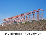 instrument landing system... | Shutterstock . vector #495639499