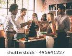 celebration with nearest...   Shutterstock . vector #495641227