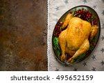 festive traditional food ...   Shutterstock . vector #495652159