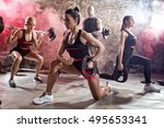 active people on  class of... | Shutterstock . vector #495653341