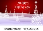 christmas background with... | Shutterstock .eps vector #495658915