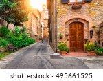 Old Street In San Gimignano ...