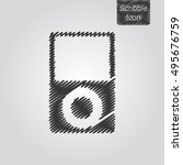 vector icon of portable player...