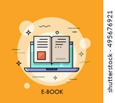 electronic book icon  digital... | Shutterstock .eps vector #495676921