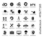 engineering icons set  ... | Shutterstock .eps vector #495677185