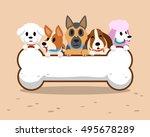 cartoon dogs with bone sign