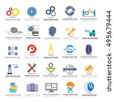 engineering icons set  isolated ... | Shutterstock .eps vector #495679444