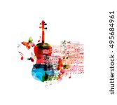 creative music style template... | Shutterstock .eps vector #495684961