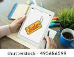 business commerce retail sale... | Shutterstock . vector #495686599