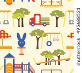 icons set of playground... | Shutterstock .eps vector #495688531