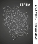 serbia triangle perspective... | Shutterstock . vector #495691975