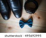 businessman accessories. man's... | Shutterstock . vector #495692995