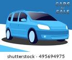 vector modern illustration with ...   Shutterstock .eps vector #495694975