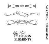 vector design element ... | Shutterstock .eps vector #495695497
