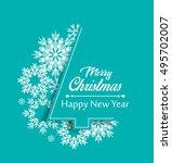 merry christmas card  christmas ... | Shutterstock .eps vector #495702007