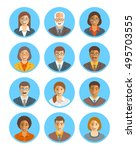 business people vector avatars... | Shutterstock .eps vector #495703555