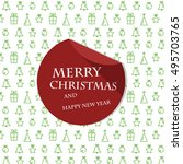 white christmas card with red... | Shutterstock .eps vector #495703765