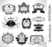 labels set   isolated on white... | Shutterstock .eps vector #495705184