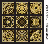 patterns set with luxury arabic ... | Shutterstock .eps vector #495711265