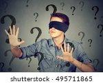Portrait Blindfolded Man...