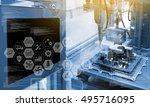 industry4.0 concept .industry... | Shutterstock . vector #495716095