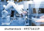 industry4.0 concept .business... | Shutterstock . vector #495716119